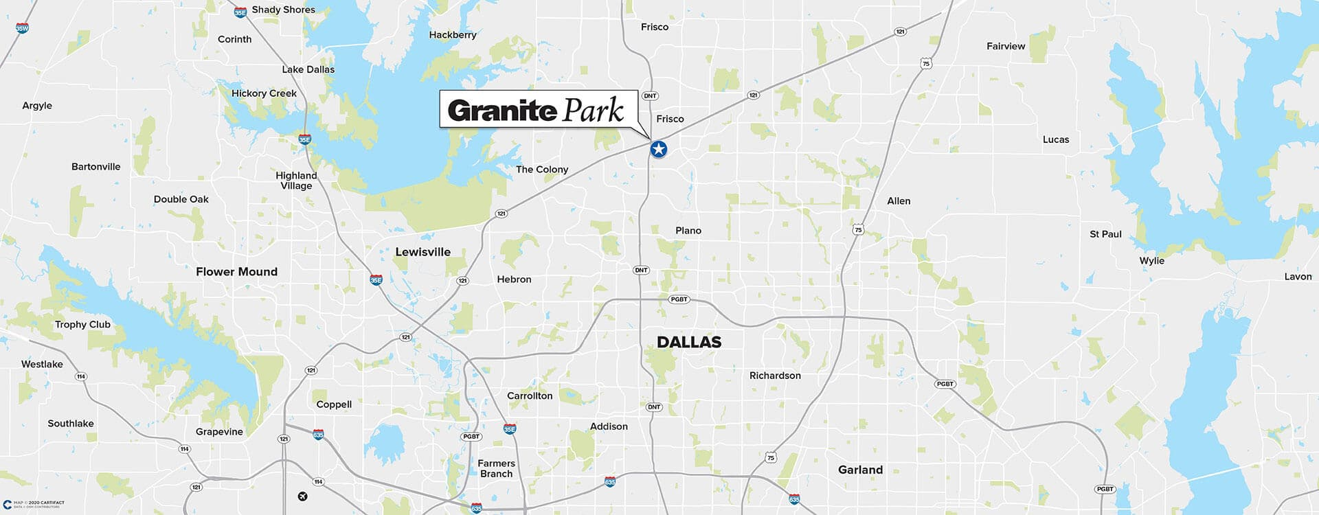 Granite Park Six location map